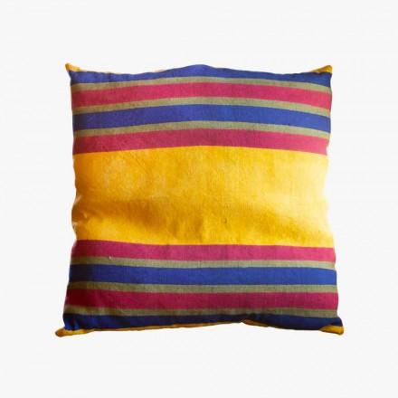 Unikatowa ręcznie malowana poduszka konopna ręcznie malowana - Viadurini od Marchi
