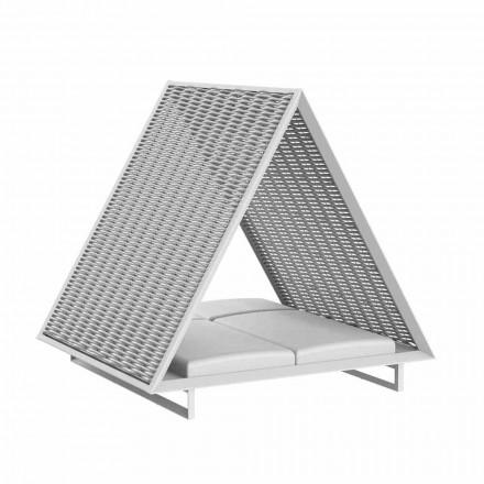 Luksusowa leżanka ogrodowa z aluminium i tkaniny - rama Vineyard firmy Vondom