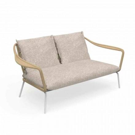 Dwumiejscowa sofa ogrodowa z aluminium i tkaniny - Cruise Alu firmy Talenti