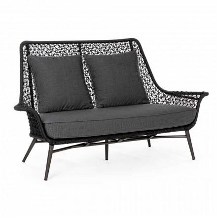 Sofa 2-osobowa na zewnątrz wykonana z aluminium i tkaniny Homemotion - Nigerio