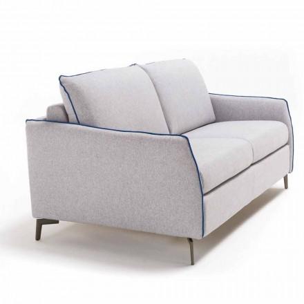 Sofa 2 osobowa design dł. 165 cm sztuczna skóra/materiał Erica