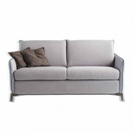 Sofa 3 osobowa design dł. 185 cm sztuczna skóra/materiał Erica