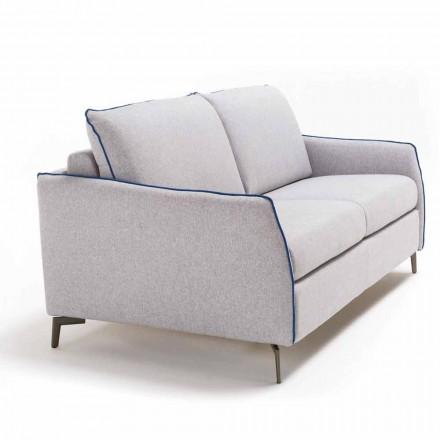 Sofa 3 osobowa design dł. 205 cm sztuczna skóra/materiał Erica