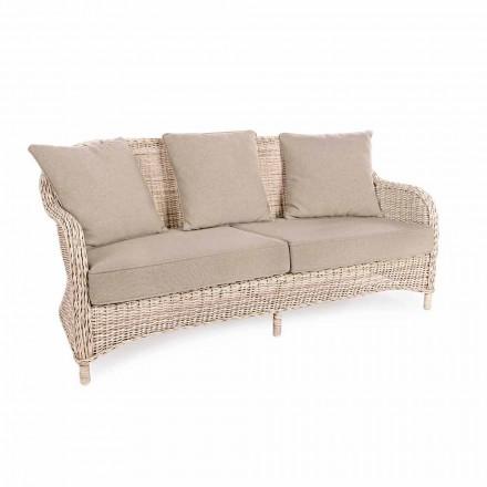 3-osobowa sofa ogrodowa z tkanego włókna o strukturze Homemotion - Casimiro