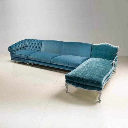 Klasyczna luksusowa narożnikowa sofa, wykonana we Włoszech, Narciso