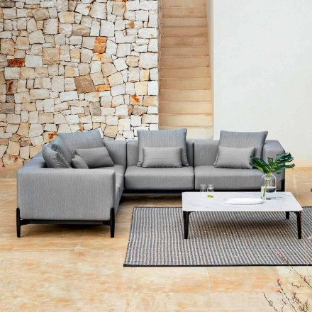 5-osobowa narożna sofa z aluminium, 3 wykończenia, luksusowe - Filomena