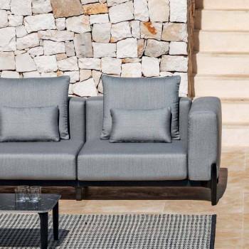 5-osobowa sofa narożna zewnętrzna z aluminium w trzech wykończeniach - Filomena