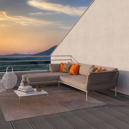 Narożna sofa w nowoczesnym stylu z szarego lub białego materiału Dove - Ontario3