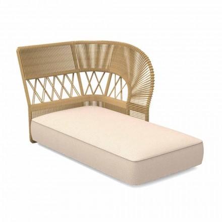 Sofa szezlongowa na zewnątrz wykonana z sznurka i tkaniny - Cliff Decò firmy Talenti
