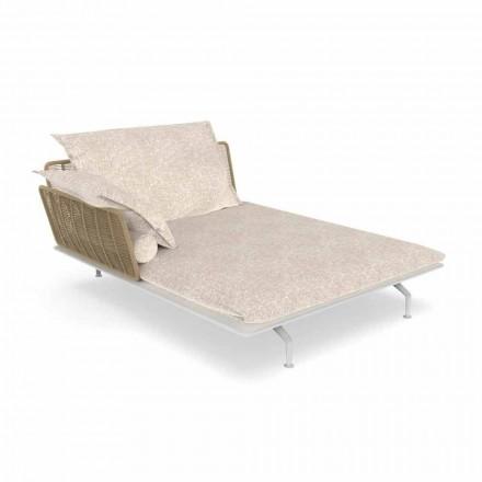 Sofa ogrodowa z szezlongiem z aluminium i tkaniny - Cruise Alu firmy Talenti