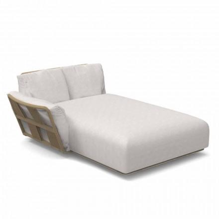Szezlong ogrodowy z tkaniny i aluminium - Scacco firmy Talenti