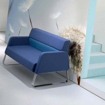 Designerska sofa wykonana z imitacji skóry wykonana we Włoszech Ennio