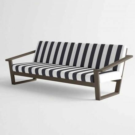 Sofa 2 lub 3 osobowa z aluminium i nowoczesnym designem z tkaniny - Luizjana