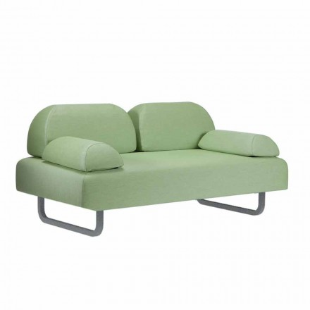Dwuosobowa sofa zewnętrzna z tkaniny i metalu Made in Italy Design - Selia