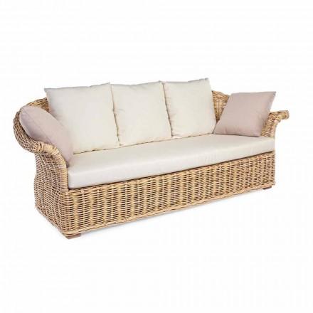 Wewnętrzna lub wewnętrzna sofa w stylu etnicznym 2 lub 3 siedziska Homemotion - Fermin