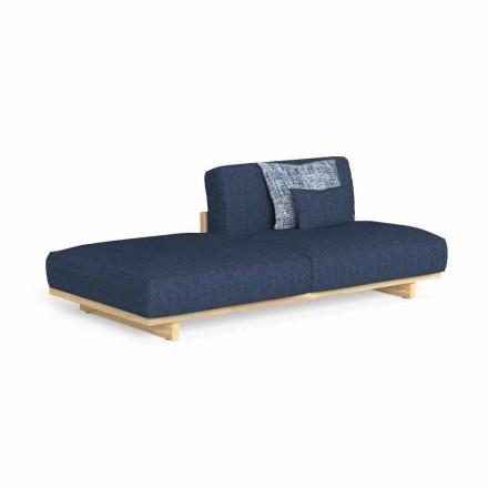Modułowa sofa zewnętrzna z lewą lub prawą pufą - Argo by Talenti