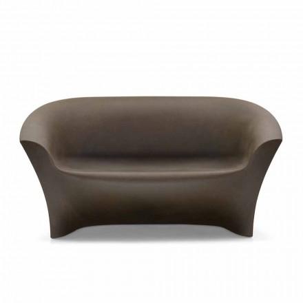 Sofa zewnętrzna z kolorowego polietylenu Made in Italy - Conda