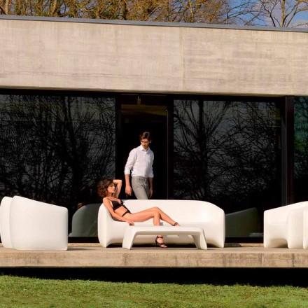 Nowoczesna sofa zewnętrzna wykonana z żywicy polietylenowej Blow by Vondom