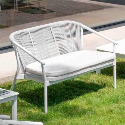 Dwumiejscowa sofa tapicerowana na zewnątrz, tapicerowana - Smart by Varaschin