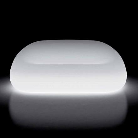 Jasna sofa zewnętrzna z oświetleniem LED z polietylenu Made in Italy - Ervin