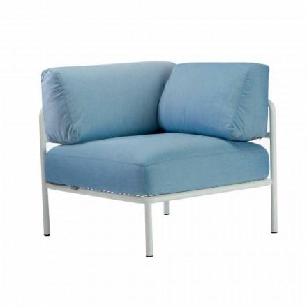 Modułowa sofa narożna z metalu i tkaniny Made in Italy - Cola