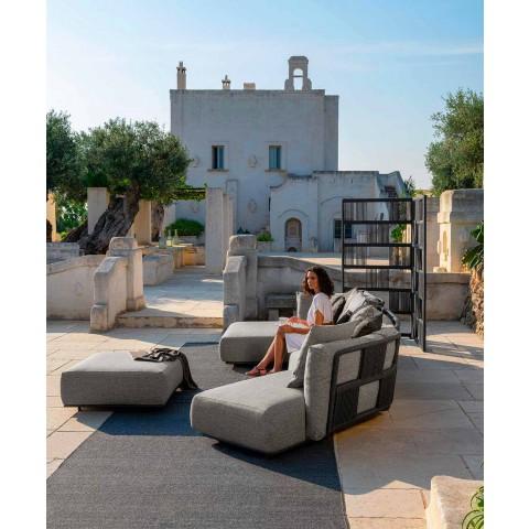 Centralna modułowa sofa zewnętrzna z tkaniny i aluminium - Scacco firmy Talenti