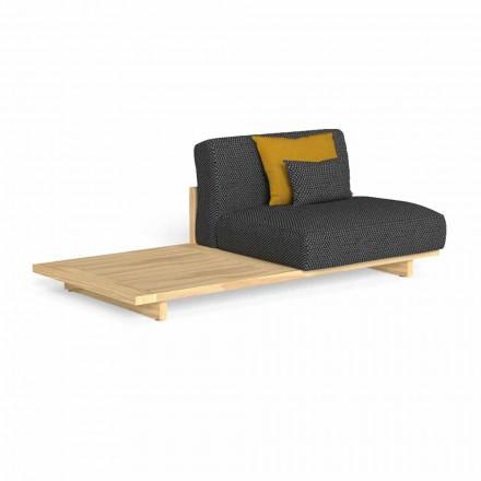 Modułowa sofa ogrodowa z prawym lub lewym stołem - Argo by Talenti