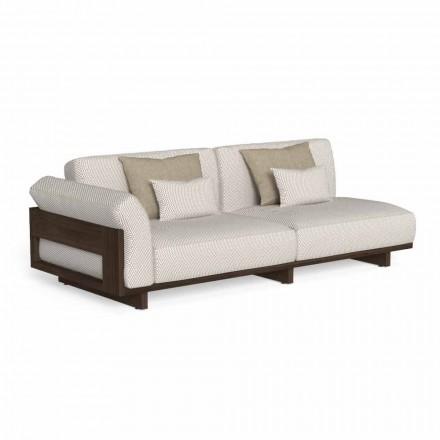 Modułowa sofa zewnętrzna, design w szlachetnym drewnie Accoya - Argo by Talenti