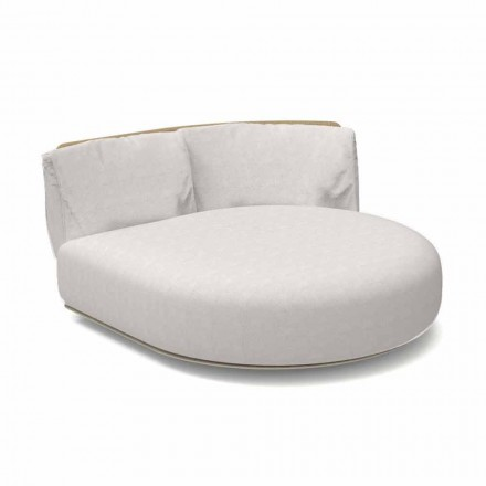 Modułowa okrągła sofa zewnętrzna z aluminium i tkaniny - Scacco Talenti