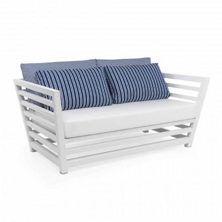 Dwuosobowa sofa ogrodowa w kolorze białym lub czarnym Design Aluminium - Cynthia