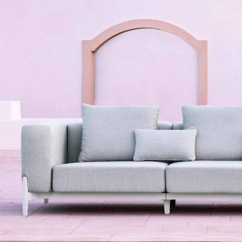 3-osobowa sofa ogrodowa z przedłużeniem, design z aluminium i tkaniny - Filomena