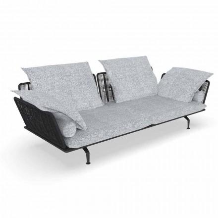 3-osobowa sofa ogrodowa z wyściełanej tkaniny i aluminium - Cruise Alu Talenti