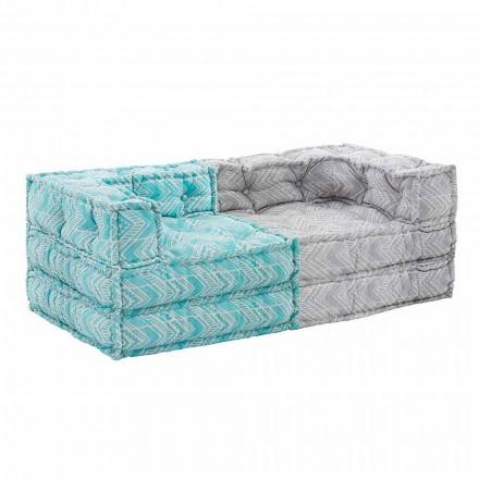 Dwumiejscowa etniczna sofa ogrodowa z wodoodpornego materiału - Shamo