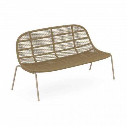 Dwumiejscowa sofa ogrodowa z aluminium i tkaniny - Panama by Talenti