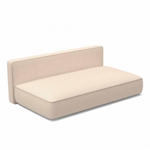 Centralna modułowa sofa ogrodowa z tkaniny - Cliff Decò firmy Talenti