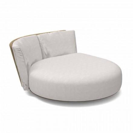 Prawa okrągła modułowa sofa ogrodowa z aluminium i tkaniny - zestaw talentów