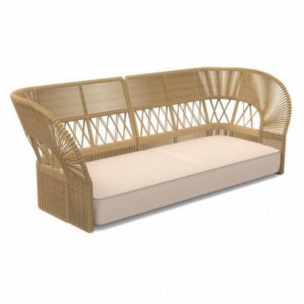 Nowoczesna sofa ogrodowa trzyosobowa - Cliff Decò firmy Talenti