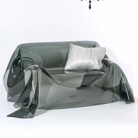 Nowoczesna sofa w pleksi, wykonana we Włoszech