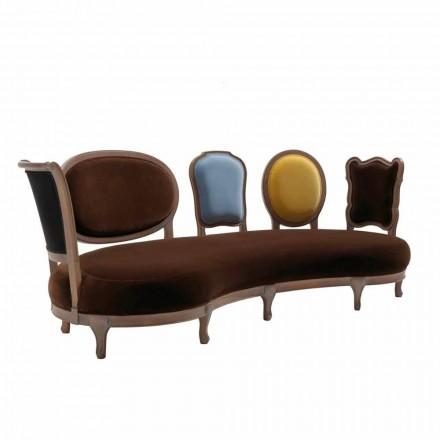 Luksusowa sofa design, 5 solidnych drewnianych oparć, Manno