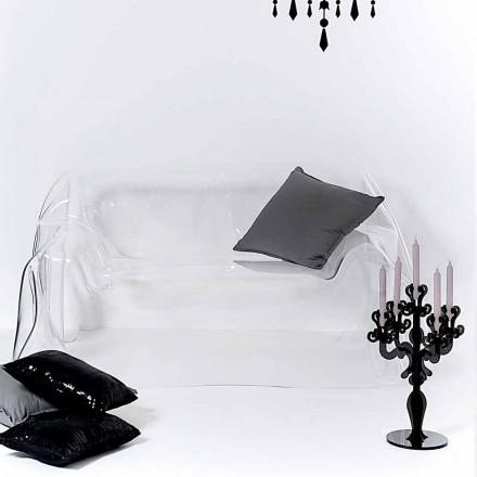 Nowoczesna sofa w przezroczystym pleksiglasu marki Jolly, wyprodukowana we Włoszech