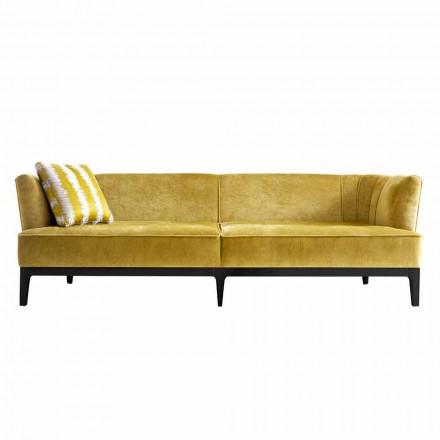 Sofa tapicerowana design z drewna bukowego Grilli Kipling made Italy