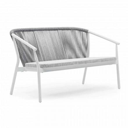 Dwumiejscowa sofa ogrodowa z aluminium i tkaniny - Smart By Varaschin