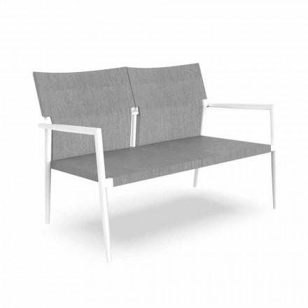 Dwumiejscowa sofa ogrodowa z aluminium i tkaniny - Adam by Talenti