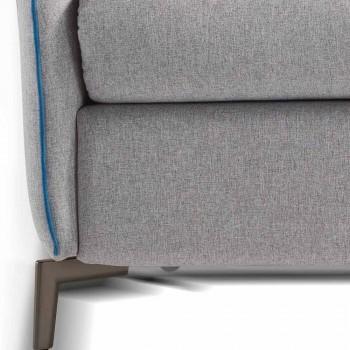 Dwumiejscowego sofa nowoczesny design L.145 cm imitacja skóra / tkanina Erica