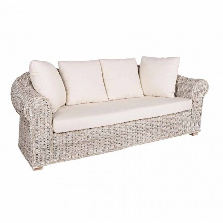 Sofa 3 lub 3-osobowa w Rattan Homemotion - Francioso