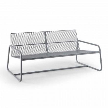 Metalowa sofa do nowoczesnego ogrodu wysokiej jakości Made in Italy - Karol