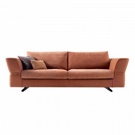 Sofa 3 osobowa tapicerowana z materiału Grilli Joe wykonana we Włoszech