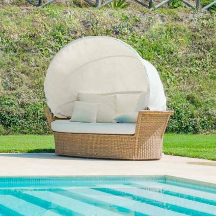 Sofa ogrodowa z daszkiem model Hector, design