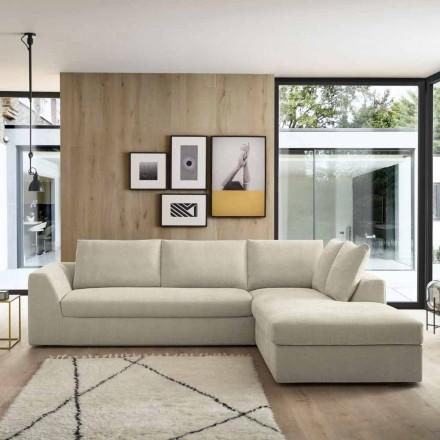 Zaprojektuj narożną sofę z beżowej tkaniny Made in Italy - Ortensia