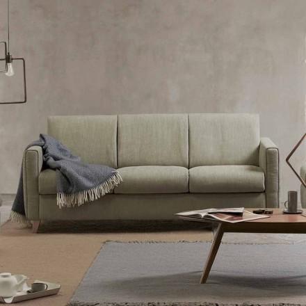 Nowoczesna sofa rozkładana w tkaninie wykonanej we Włoszech Filippo